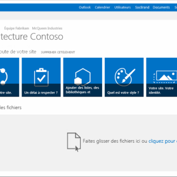 L'interface collaborative de SharePoint