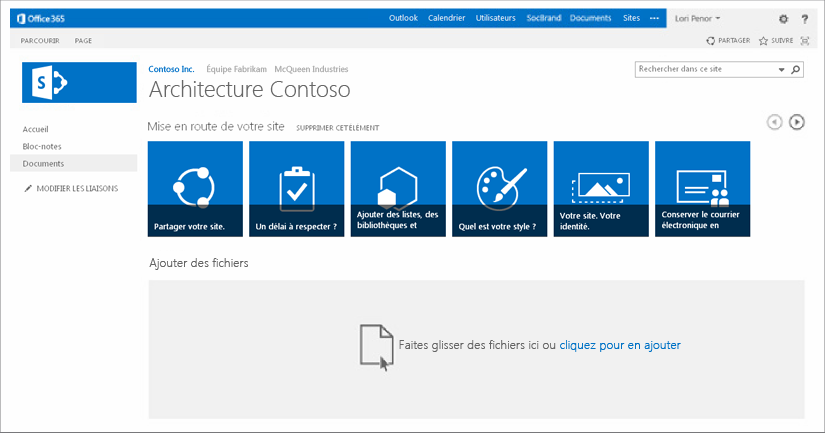 L'interface collaborative de SharePoint